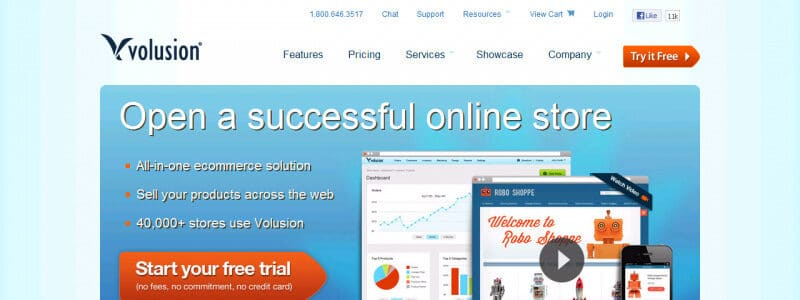 Volusion Website Builder Website Homepage
