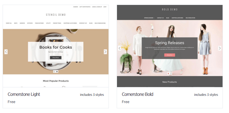 Bigcommerce Templates Examples