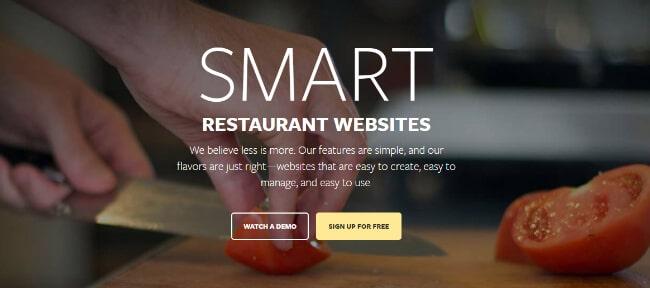 Flavor Plate Restaurant Website Builder Homepage