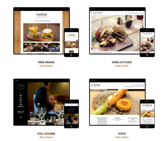 Flavor Plate Website Templates