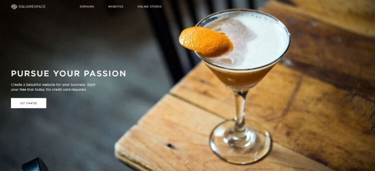 Squarespace Restaurant Builder Homepage