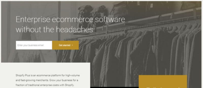 Shopify Plus eCommerce Homepage